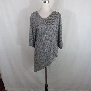 GRAY TUNIC SZ 2X ASYMMETRICAL